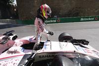 Unfall: Sergio Perez, Force India