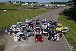 Gruppenfoto: Autos der Rallycross-WM 2017 am Lydden Hill Circuit
