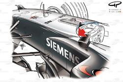 McLaren MP4-19 cockpit/chassis detail