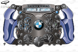 BMW Sauber F1.09 2009 steering wheel front view