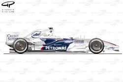 Sauber F1.08 side view