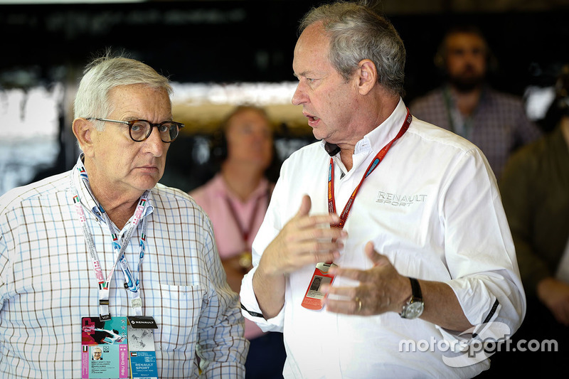 Bernard Cambier, Renault Senior Vice President and Chairman of Africa-Middle East-India Region with Jerome Stoll, Renault Sport F1 President