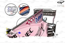 Force India VJM10 new engine cover, Singapore GP