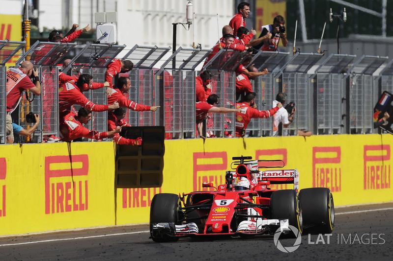 Sieg für Sebastian Vettel, Ferrari SF70-H