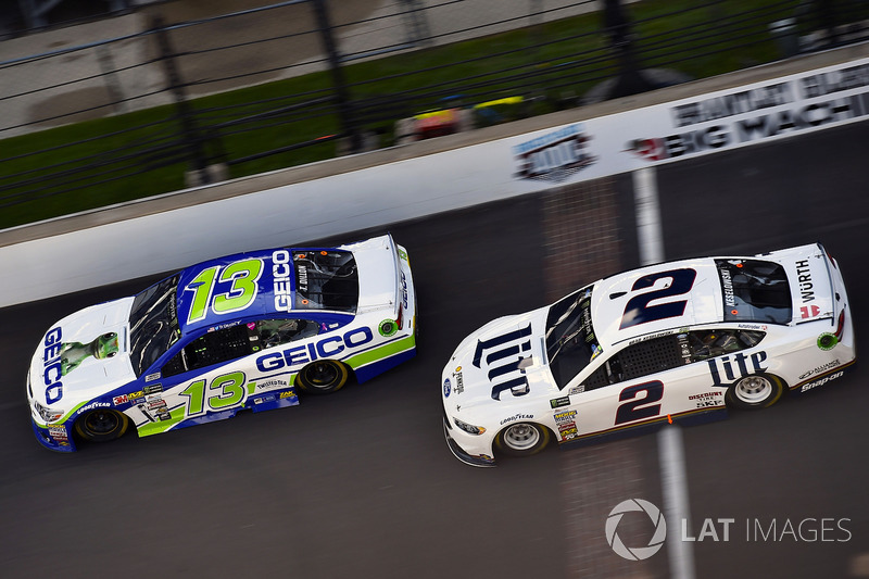 Ty Dillon, Germain Racing Chevrolet, Brad Keselowski, Team Penske Ford