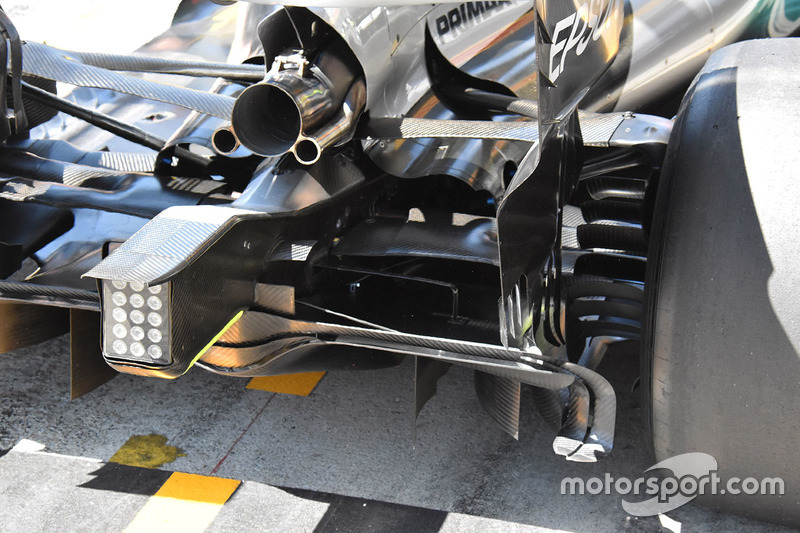 Mercedes AMG F1 W08: Heckpartie