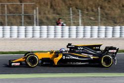Jolyon Palmer, Renault Sport F1 Team RS17 running sensor equipment