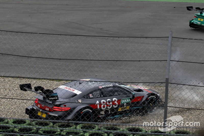 Crash of Robert Wickens, Mercedes-AMG Team HWA, Mercedes-AMG C63 DTM