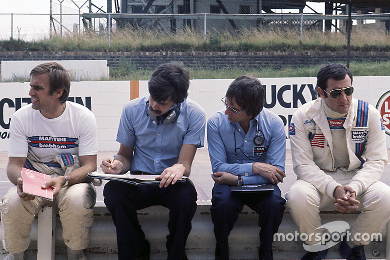 Владелец Brabham Берни Экклстоун, Гордон Марри, Карлос Рейтеман и Карлоса Пасе