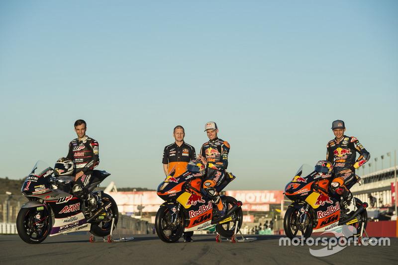 Johann Zarco, Ajo Motorsport, Kalex; Brad Binder, Red Bull KTM Ajo, KTM; Bo Bendsneyder, Red Bull KTM Ajo, KTM