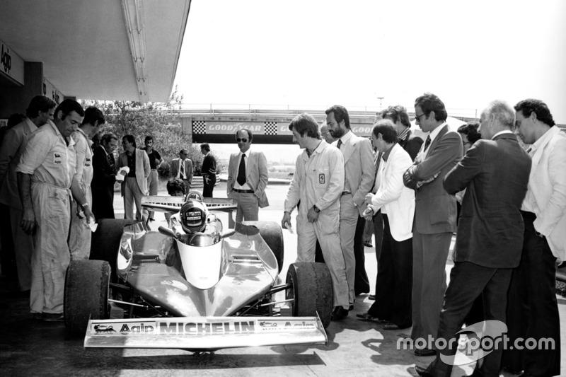 Der erste Test mit dem Ferrari 312 T3