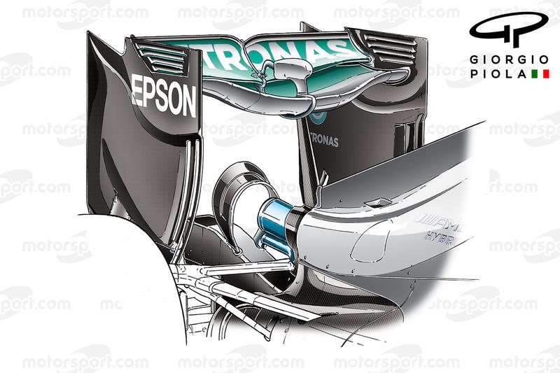 Mercedes F1 W07, Heckflügel, Grand Prix von Europa