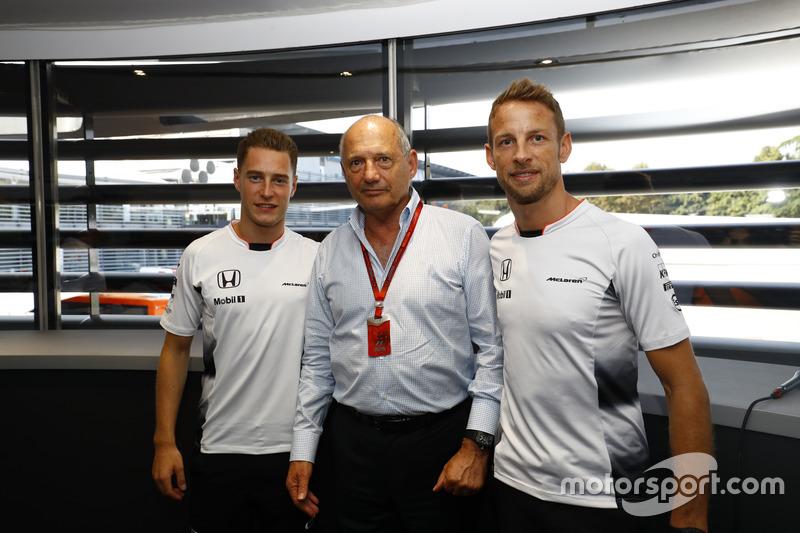 Ron Dennis, Executive Chairman, McLaren Automotive, with Stoffel Vandoorne, Test and Reserve Driver
