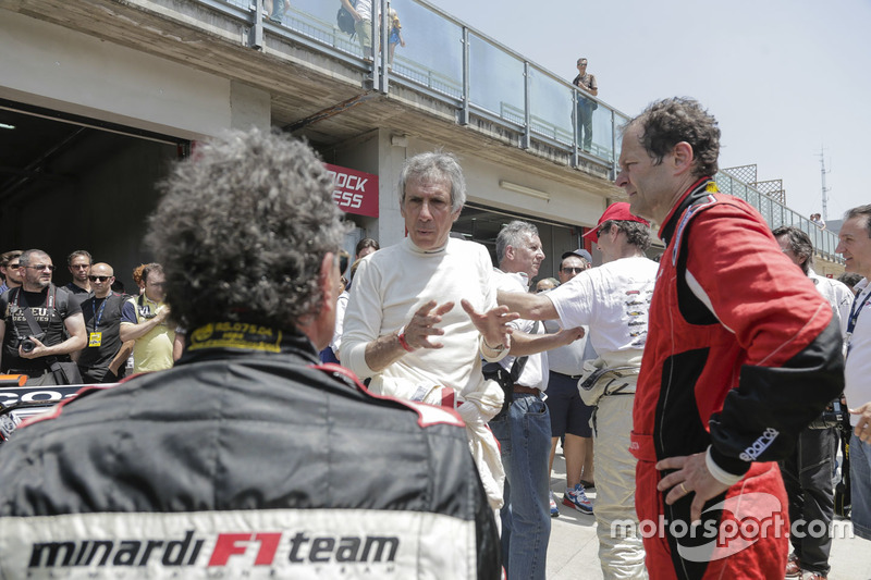 Aldo Costa, Mercedes AMG F1 Teknik Direktörü, Gabriele Tredozi ve Paolo Barilla