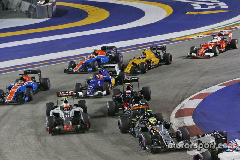 Sergio Pérez, Sahara Force India F1 VJM09 al inicio de la carrera