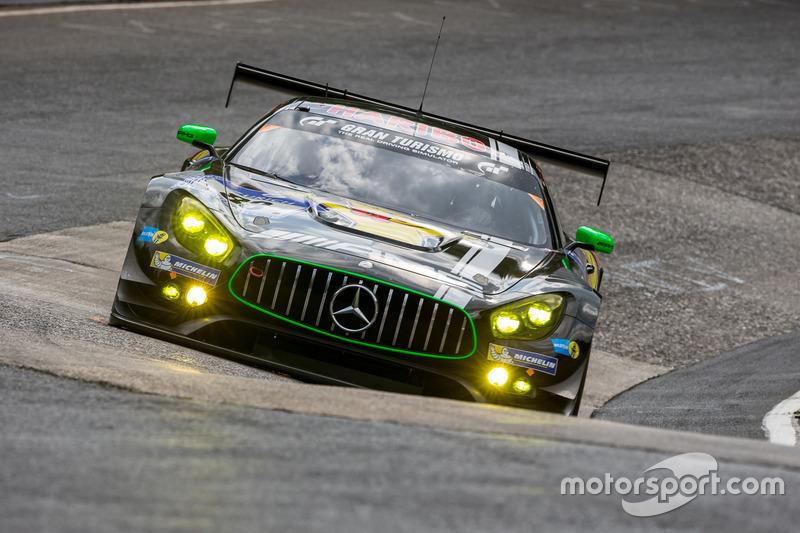 #88 Haribo Racing Team-AMG, Mercedes-AMG GT3: Uwe Alzen, Lance David Arnold; Maximilian Götz, Jan Seyffarth