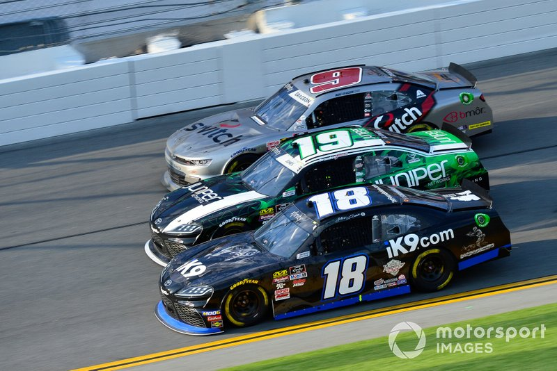Jeffrey Earnhardt, Joe Gibbs Racing, Toyota Supra iK9, Brandon Jones, Joe Gibbs Racing, Toyota Supra Juniper, Noah Gragson, JR Motorsports, Chevrolet Camaro Switch