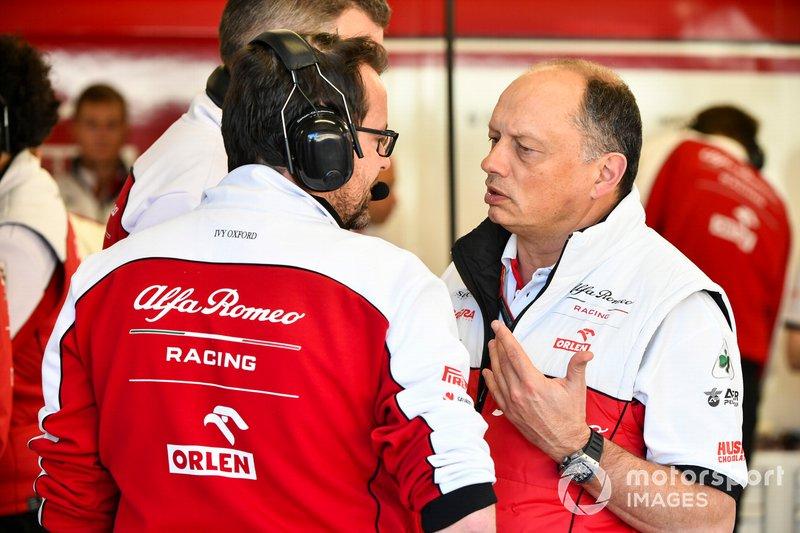Frederic Vasseur, jefe de Alfa Romeo Racing.
