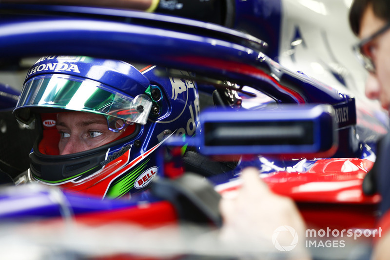Brendon Hartley, Toro Rosso STR13, dans son cockpit