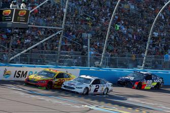 Brad Keselowski, Team Penske, Ford Fusion Miller Lite, Joey Logano, Team Penske, Ford Fusion Shell Pennzoil