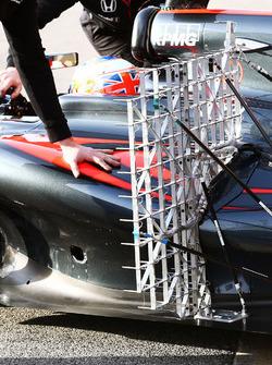 Jenson Button, McLaren MP4-31 equipo de sensor corriente