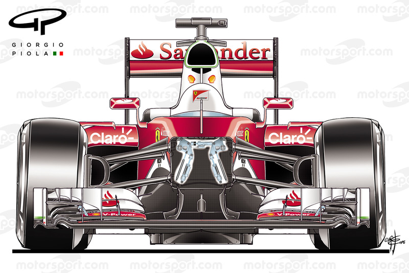 Ferrari SF16H, opened view