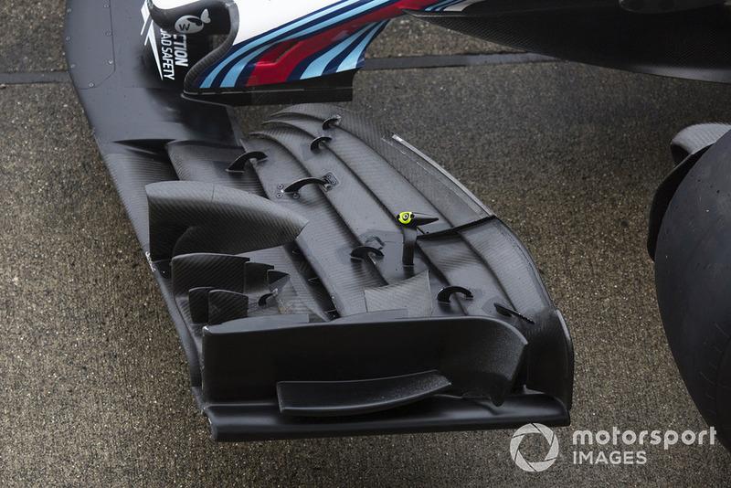 Detalle del ala frontal del Williams FW41