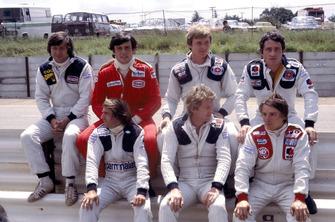 Jean-Pierre Jarier, ATS Ford, Patrick Tambay, Ferrari, Didier Pironi, Patrick Depailler, Tyrrell Ford, Jacques Lafitte, Ligier Matra, Jean-Pierre Jabouille, Renault and Rene Arnoux, Martini Ford