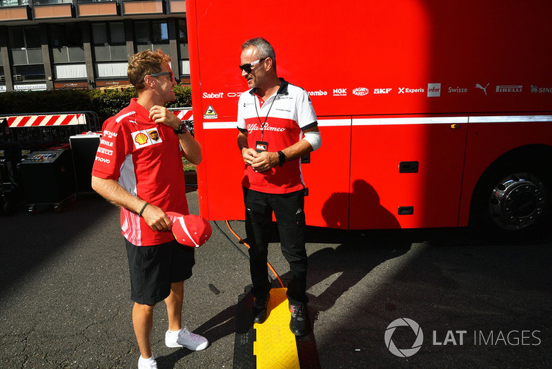 Sebastian Vettel, Ferrari y Beat Zehnder, Sauber Manager