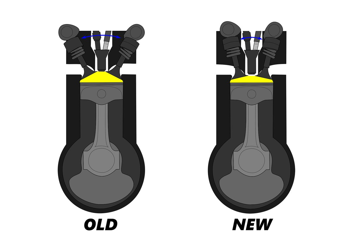 Honda valve arrangement