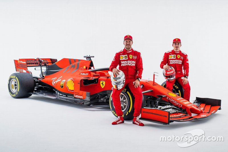 Шарль Леклер, Ferrari, Себастьян Феттель, Ferrari, та болід Ferrari SF90