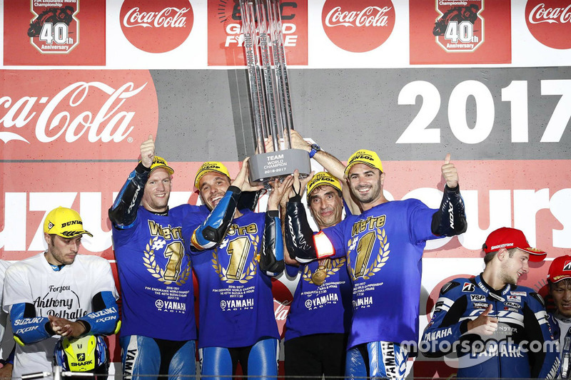 Podium: David Checa, Niccolo Canepa, Mike Di Meglio, GMT 94 Yamaha