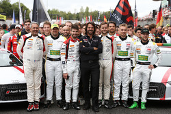 Stéphane Ratel, CEO and founder of SRO and drivers group photo supporting Puerto Rico victims of hurricane Maria