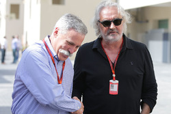Chase Carey, Formula One Group Chairman with Flavio Briatore