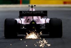 Esteban Ocon, Force India VJM10 fait des étincelles