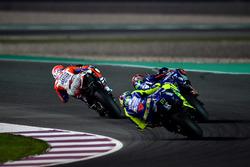 Андреа Довициозо, Ducati Team; Маверик Виньялес, Yamaha Factory Racing; Валентино Росси, Yamaha Factory Racing