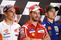 Marc Marquez, Repsol Honda Team, Andrea Dovizioso, Ducati Team, Maverick Viñales, Yamaha Factory Racing