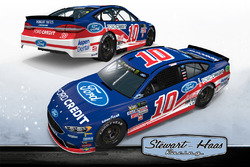 Throwback-Design: Danica Patrick, Stewart-Haas Racing Ford