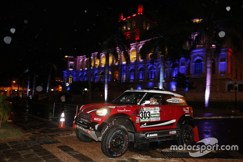 #303 X-Raid Team Mini: Mikko Hirvonen, Michel Périn,