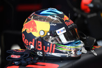 The helmet of Daniel Ricciardo, Red Bull Racing RB13
