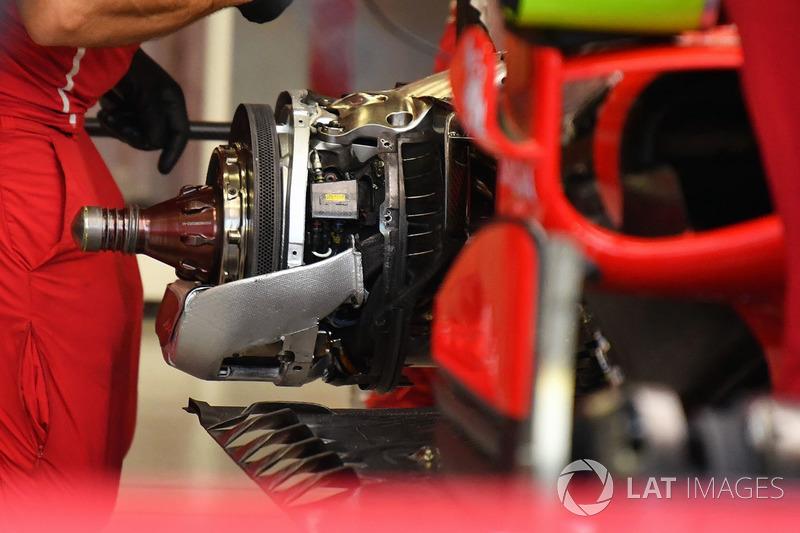 Frein et essieu arrière de la Ferrari SF70H