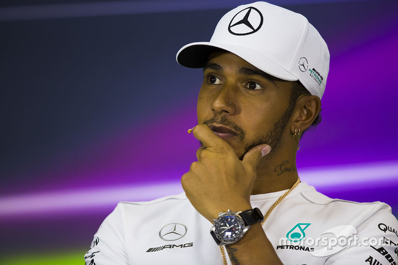 Lewis Hamilton, Mercedes AMG, in the press conference