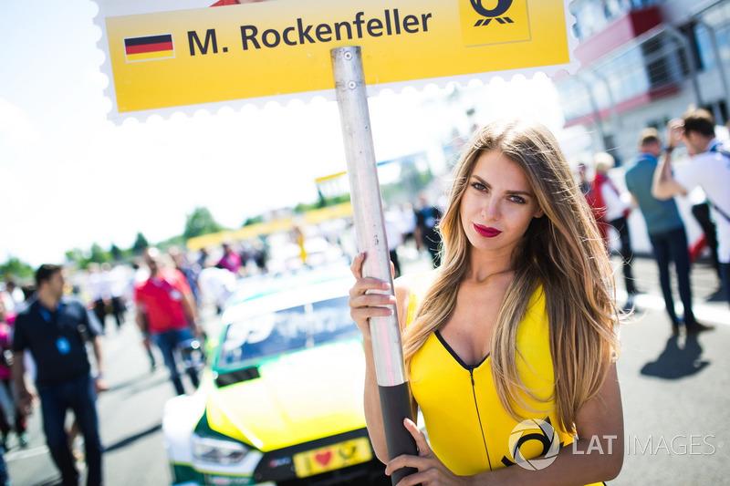 Chica de la parrilla de Mike Rockenfeller, Audi Sport Team Phoenix, Audi RS 5 DTM