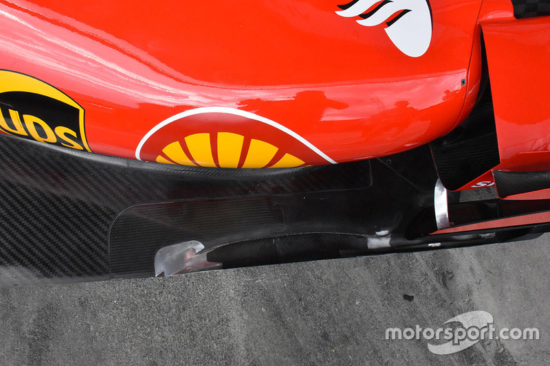 Детали днища Ferrari SF70H
