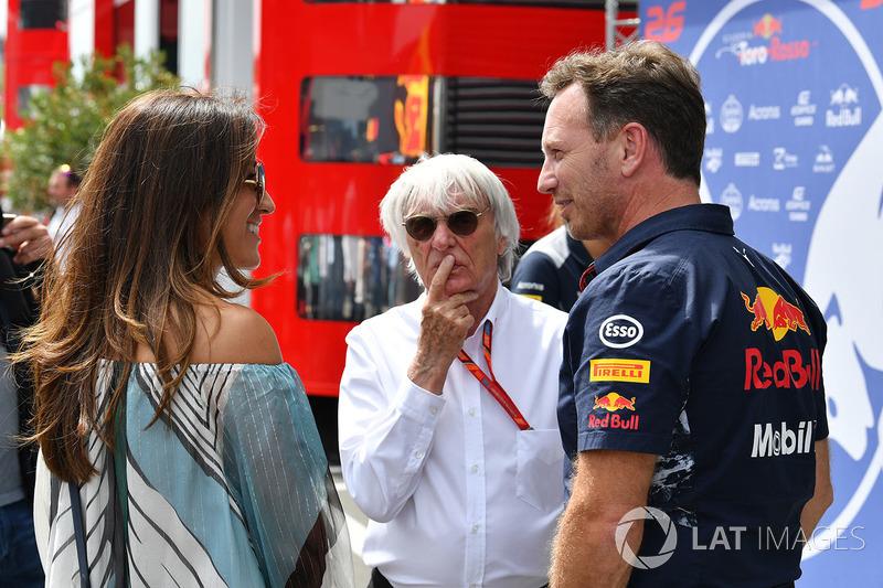 Берні і Фабіана Екклстоун, керівник Red Bull Крістіан Хорнер