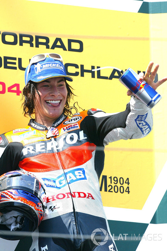 Podio: il terzo classificato Nicky Hayden, Repsol Honda Team