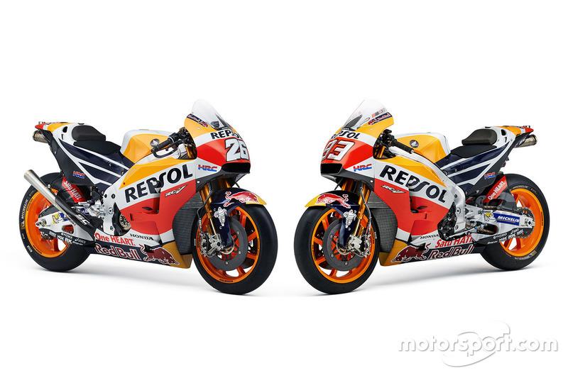 Bikes of Dani Pedrosa, Repsol Honda Team and Marc Marquez, Repsol Honda Team