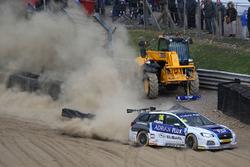 Ashley Sutton, Team BMR Subaru Levorg crash
