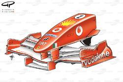 Ferrari F2005 nose, French GP