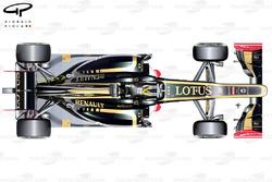 Lotus E20 top view, launch car